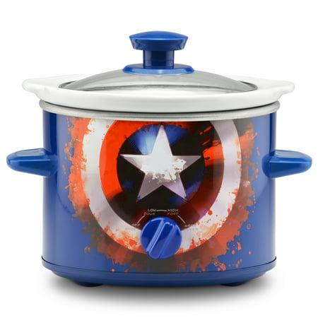 Marvel Captain America 2-Quart Slow Cooker (Americas Test Kitchen The Complete Slow Cooker)