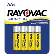 RAYOVAC 5AA-4F Heavy-Duty AA Batteries, 4 pk