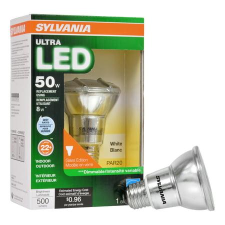 Sylvania LED Light Bulb, 50W Equivalent, PAR20, Soft White - Walmart.com