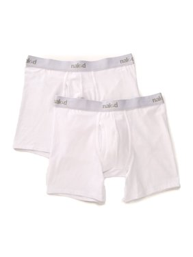 42cc782131c9 ... Walk Into Fashion. Product Image Men's Naked M101100 Essentials Cotton  Stretch Boxer Briefs - 2 Pack