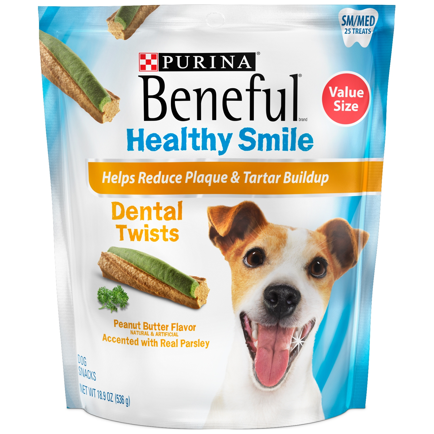 Click here to buy Purina Beneful Healthy Smile Dental Dog Treats Adult Small Medium Twists 18.9 oz. Pouch by Nestlé Purina Petcare Company.