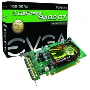 evga 01G-P3-N945 A1 GeForce 9400 GT 1GB DDR2 PCI-E 2.0 Graphics Card (EVGA