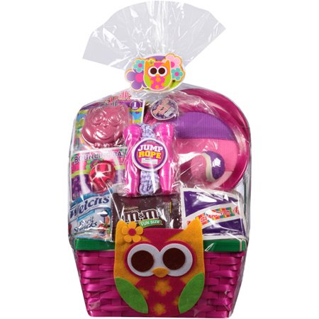 Owl Easter Basket With Toys And Assorted Candies Walmart Com