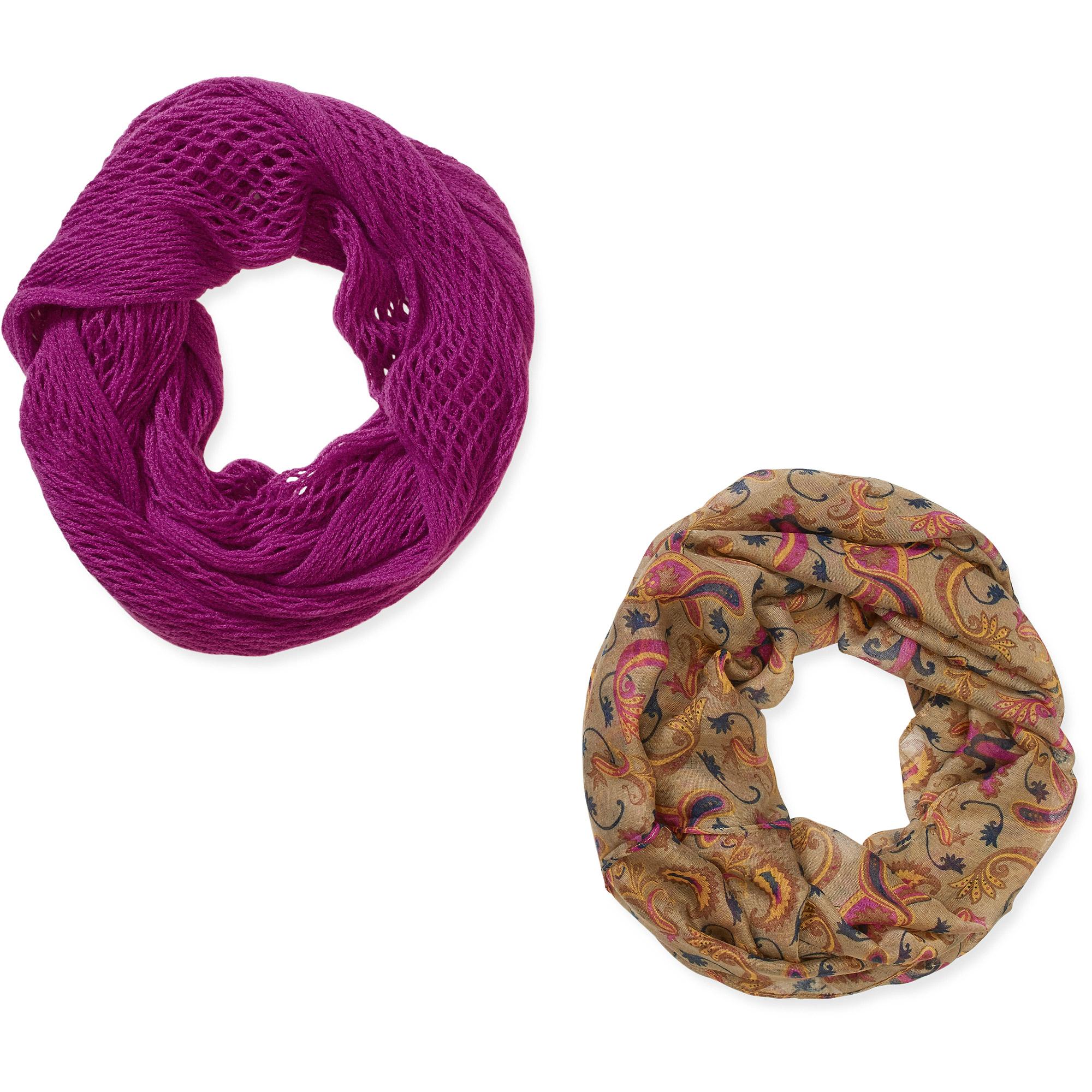 Women's Infinity Scarves 2 pack