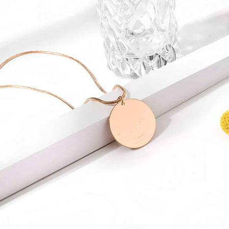 Boyijia Retro Women Gold Layered Necklaces Personalized Girl Simple Style Long Pendant Chain Bohemian Geometric Choker Set - image 3 of 6