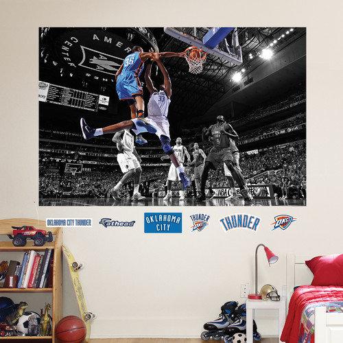Fathead NBA Oklahoma City Thunder Kevin Durant Dunk Wall Mural