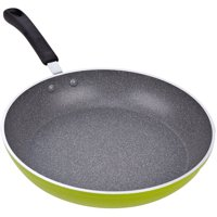 """Cook N Home 12"""" Frying Pan/Saute Pan with Non-Stick Coating Induction Compatible, Green"""