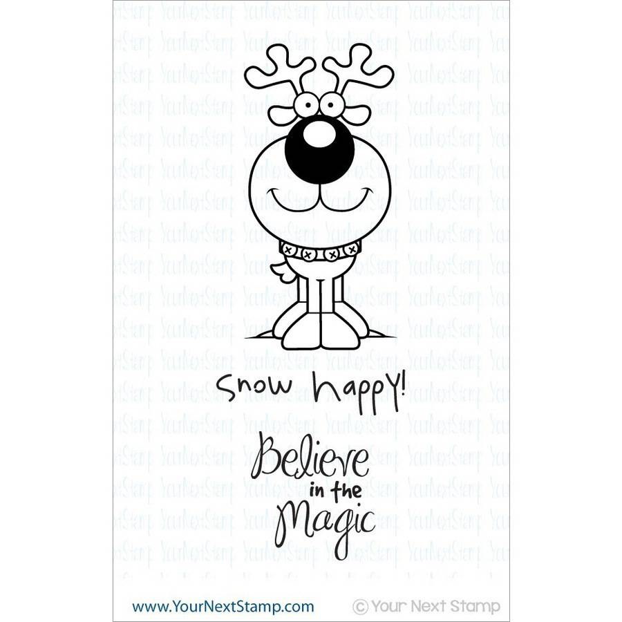 "Your Next Stamp Cling Stamps, 3"" x 4"", Believe In Magic"