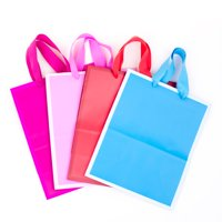 Hallmark Medium Gift Bags for Birthdays, Baby Showers, or Any Occasion (Solid Colors, Pack of 4)