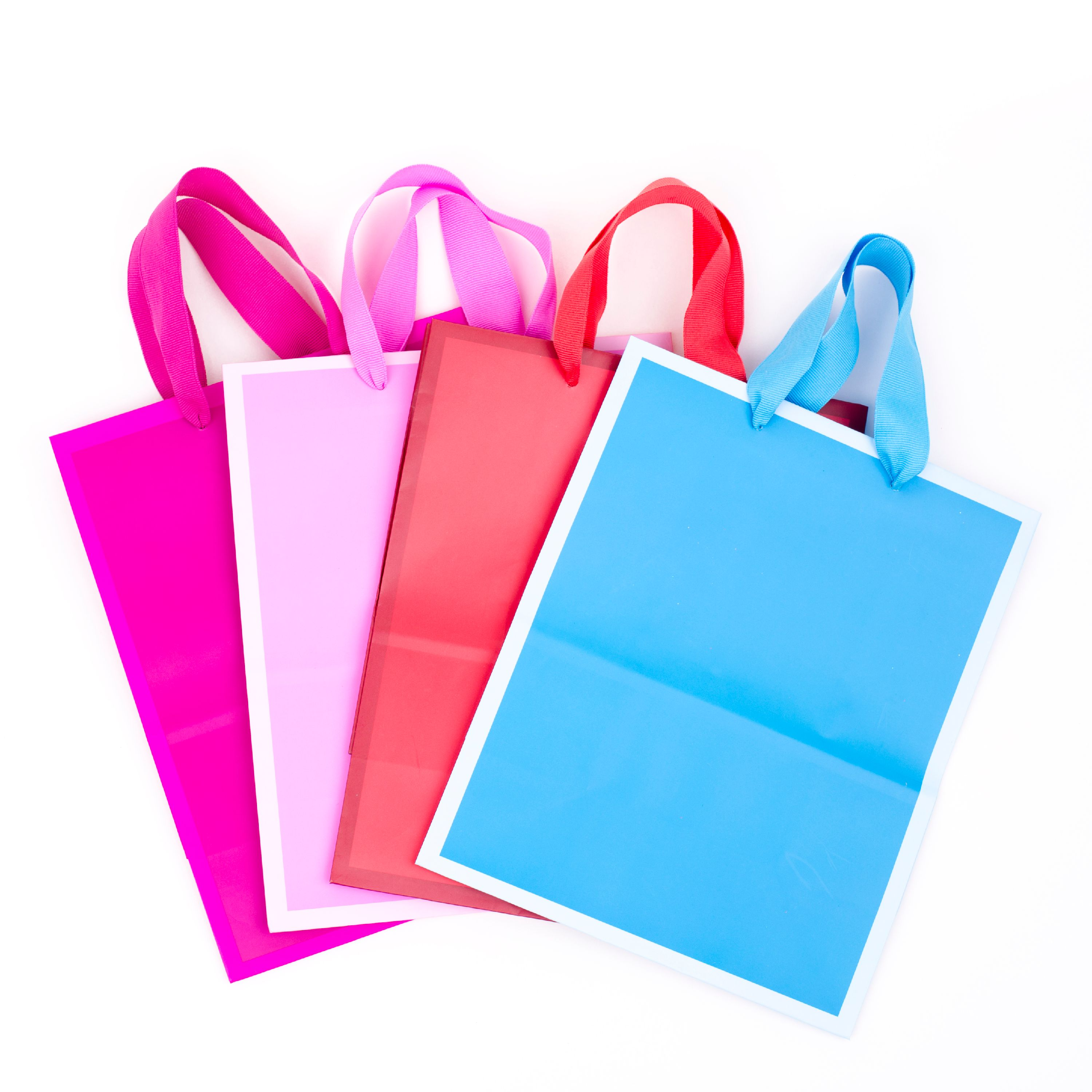 Hallmark, Solid Color, Medium Gift Bags, 4 Pack