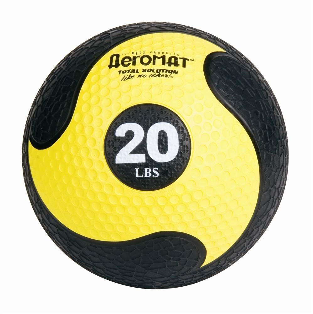 Deluxe Medicine Ball in Black and Yellow (Deluxe)