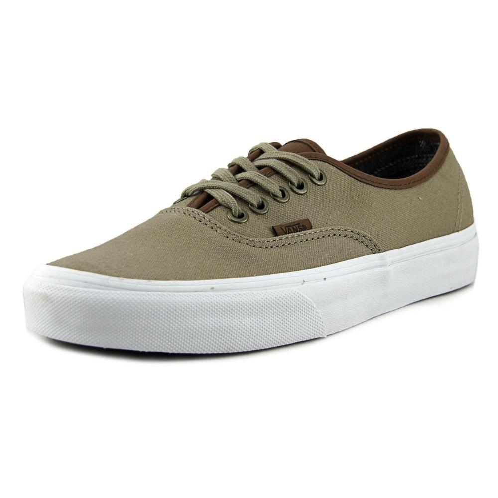 Vans Authentic (C&L) SI Men  Round Toe Canvas Tan Skate Shoe