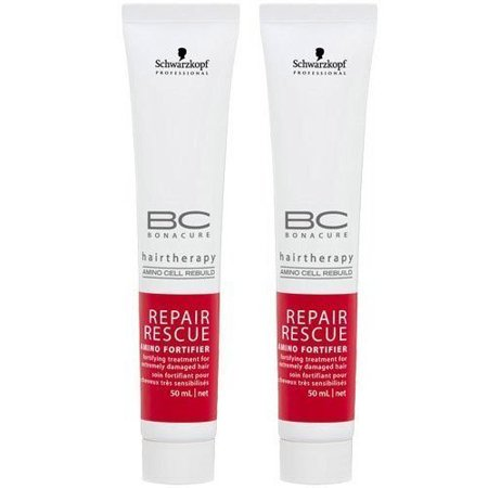 - Schwarzkopf Bonacure BC Repair Rescue Amino Fortifier, 1.7 oz each, Set of 2