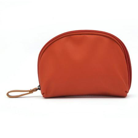 Half Moon Makeup Cosmetic Beauty Bag  Travel Handy Organizer Pouch Travel Case Toiletry Beauty Organizer Zipper Holder Handbag