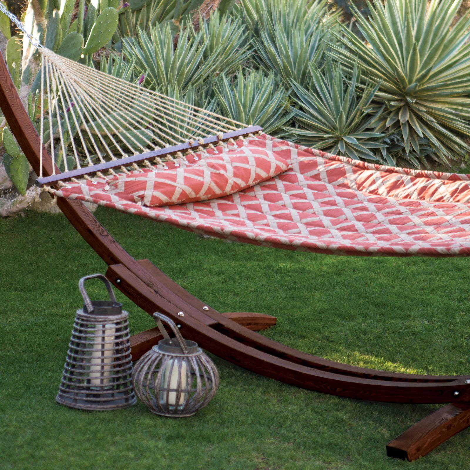 algoma 15ft russian pine wood arc hammock stand   walmart    rh   walmart