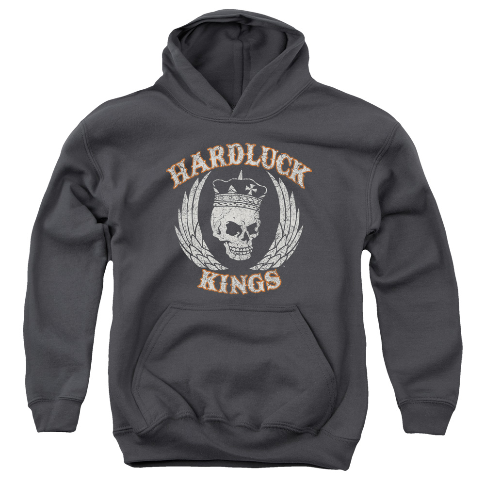 Hardluck Kings Red Cream Distressed Big Boys Pullover Hoodie