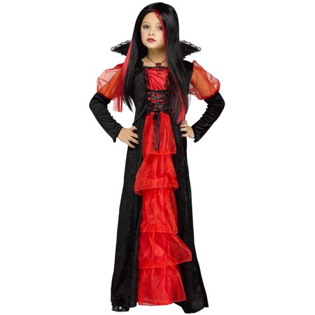 Red Black Victorian Vampiretta Gothic Girls Child Halloween Costume](Gothic Victorian Halloween Decorations)