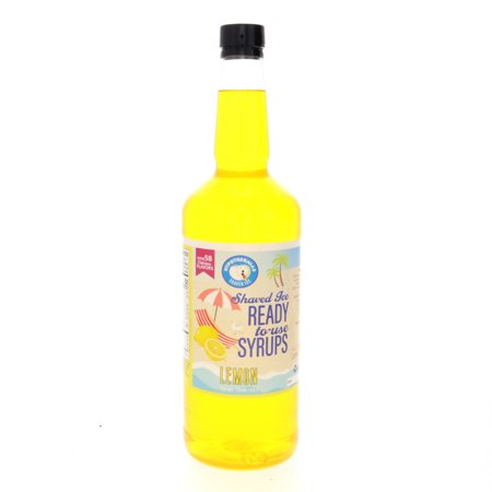 Lemon Ready to Use Shaved Ice or Sno Cone Syrup Quart
