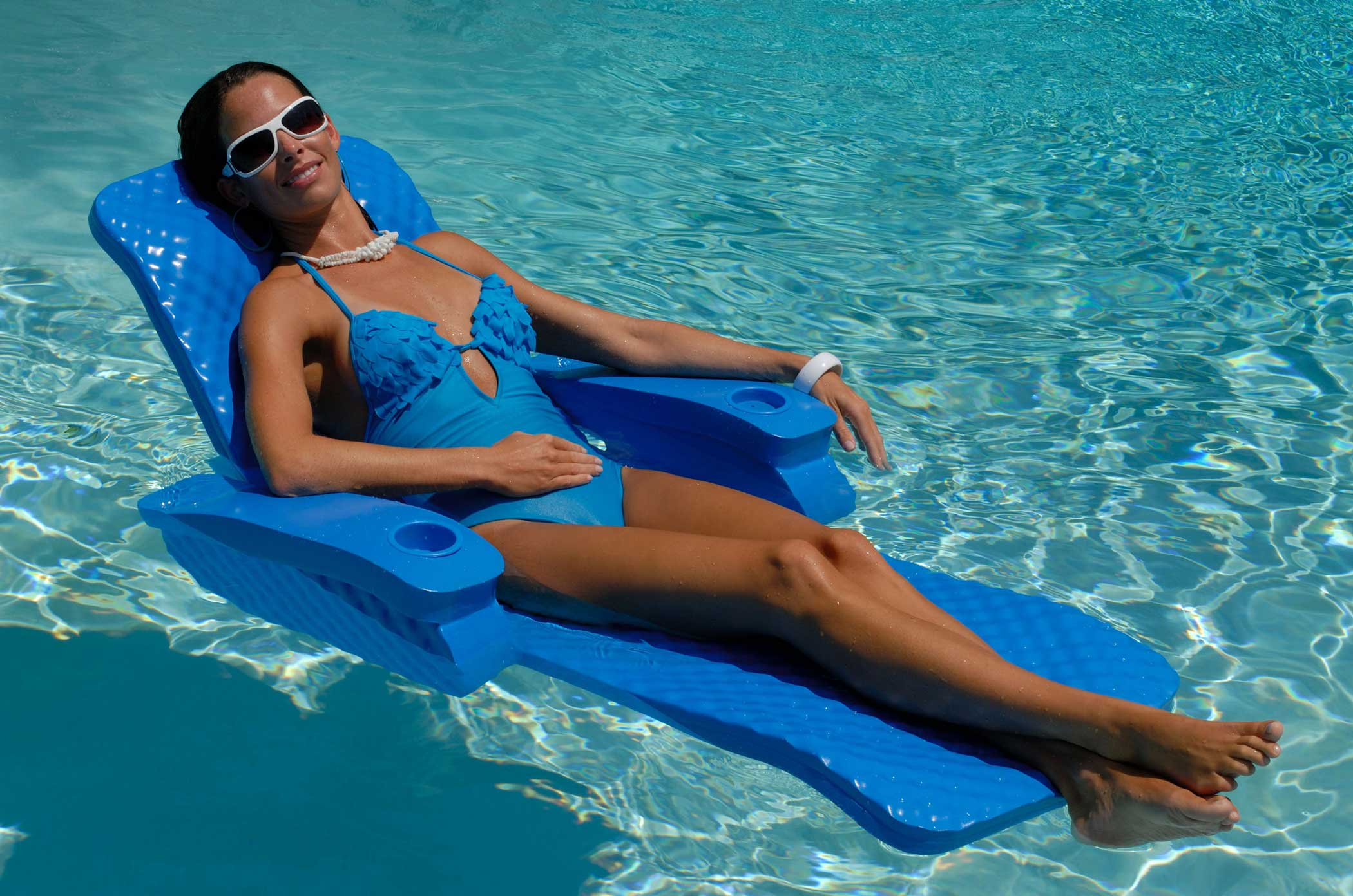 Baja II Floating Swimming Pool Chaise Lounge  sc 1 st  Walmart : floating pool chaise lounge - Sectionals, Sofas & Couches
