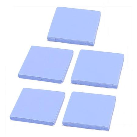 5Pcs Blue Thermal Pad GPU CPU Heatsink Cooling Conductive Silicone