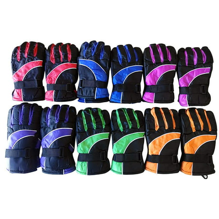 12 Pairs Of Kids excell Thermal Sport Winter Warm Ski Gloves A 12 Hearth Gloves
