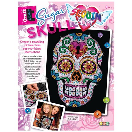 Sequin Art Sugar Skull Sparkling Arts and Crafts Picture - Arts & Crafts Ideas