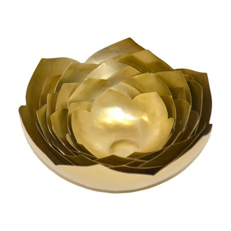 R16 Home Furniture 10060E1 Brunei Lotus, Brass - image 1 of 1