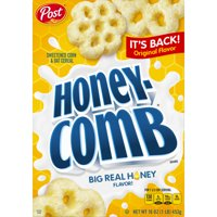 Post Honey Comb Corn & Oat Breakfast Cereal, 16 Oz