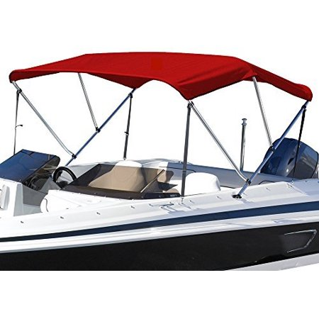 SUMMERSET by Eevelle Premium Bimini 3 Bow Boat Top with Hardware, 72 x 85-90 x 36-Inch, Khaki ()