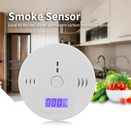 Smoke Sensor,Sonew LCD CO Carbon Monoxide Smoke Detector Poisoning Gas Warning Sensor