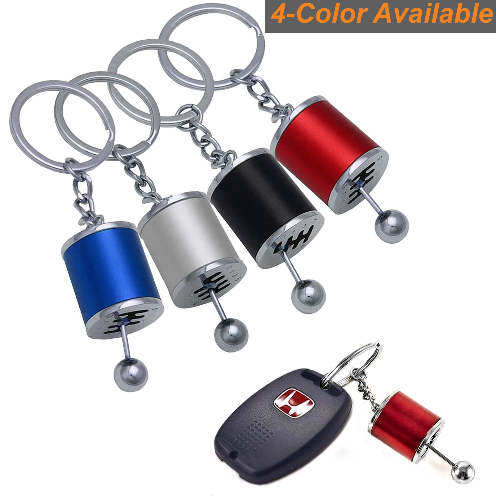 Gear Knob Gear Shift Gear Stick Gear Box Metal Key Chain Keyfob Car Keyring B*