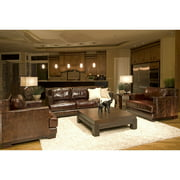 Emerson Top Grain Leather Sofa and Chairs in Saddle Color