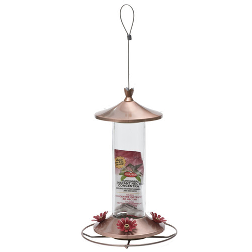 Perky Pet Elegant Copper HummingBirdfeeder, 12 oz Capacity by Woodstream Corp