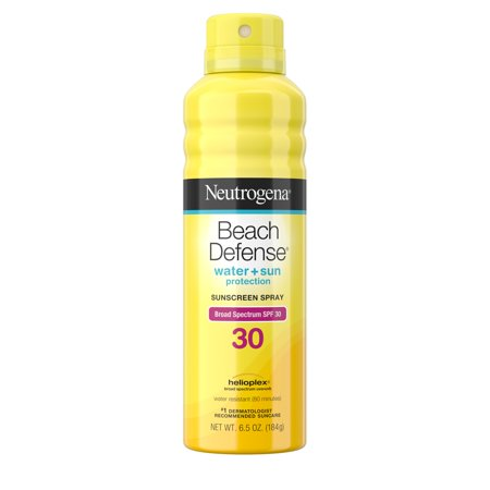 Body Spray Spf 30 Sunblock (Neutrogena Beach Defense Oil-free Body Sunscreen Spray, SPF 30, 6.5 oz)