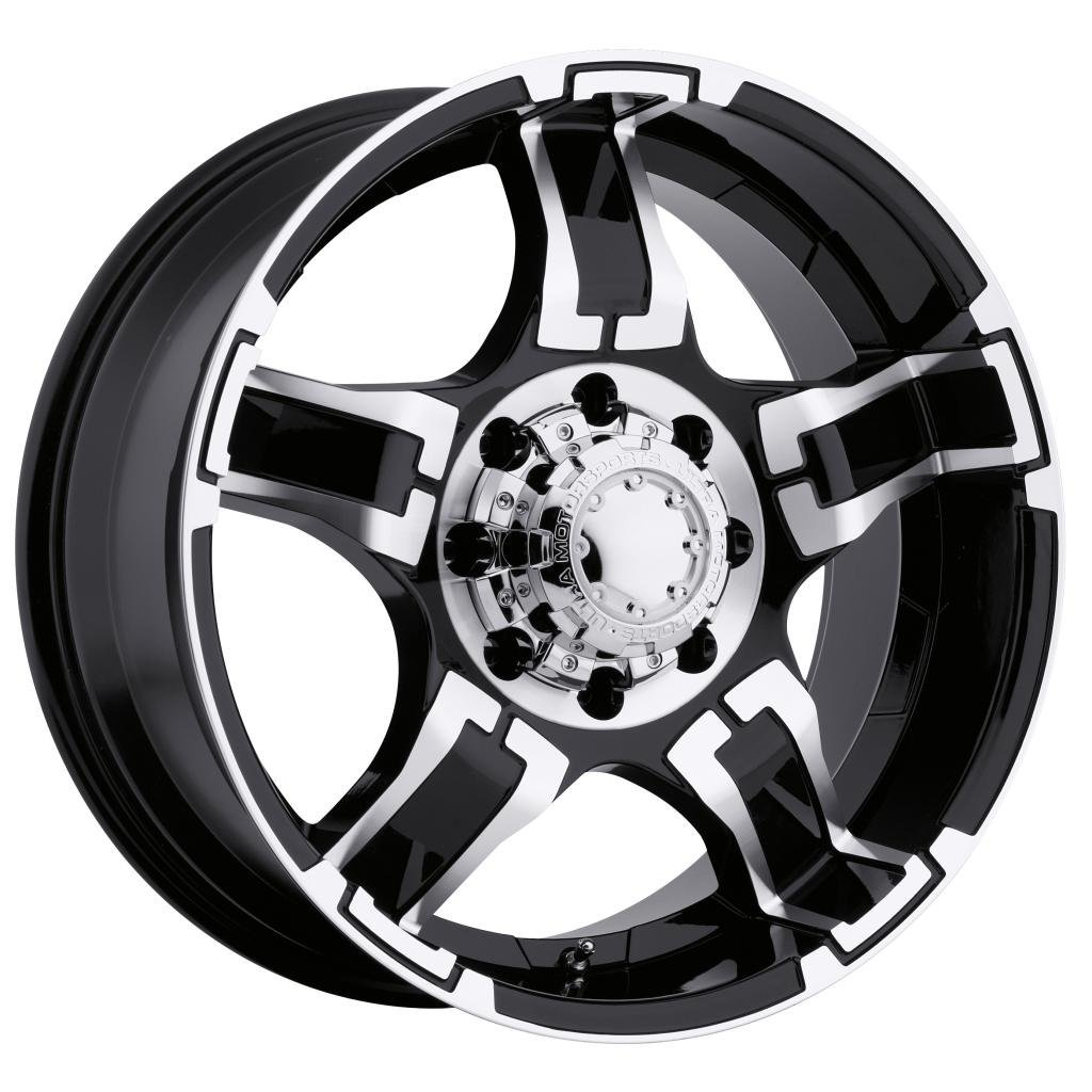 Ultra Drifter 17 Black Wheel / Rim 8x6.5 with a 20mm Offset and a 125 Hub Bore. Partnumber 194-7882B