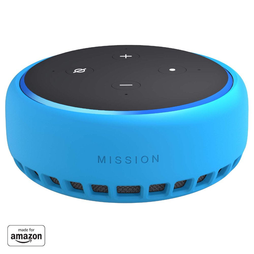 """""""Made for Amazon"""" Mission Cables Skin for All-new Echo Dot (3rd Gen) - Bahama Blue"""