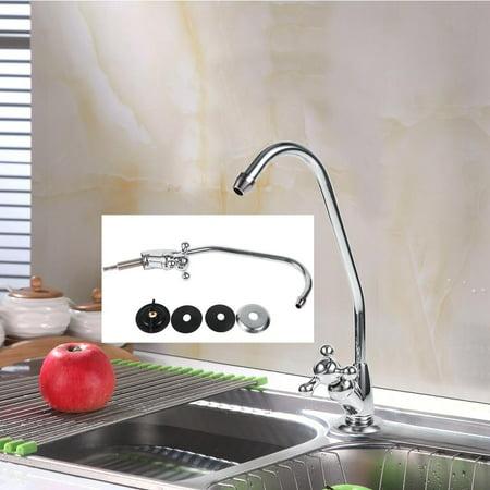 Kitchen Gooseneck Spout,Ymiko Kitchen Gooseneck Spout Rotary Faucet Mixer Tap For Water Filter Home Country Kitchen Column Spout Filter