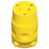 15 Amp Yellow 125 Volt Polarized Cord Outlet