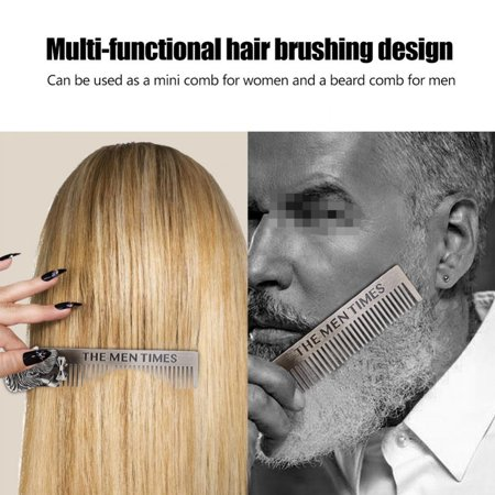 Ejoyous Gentleman Shape Stainless Steel Portable Pocket Beard Shaving Comb Mustache Hair , Portable Beard Comb, Shaving Comb - image 5 of 8