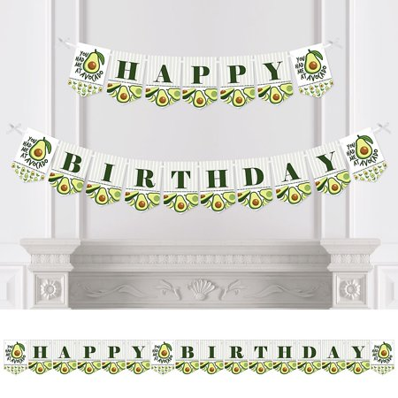 Hello Avocado - Birthday Party Bunting Banner - Birthday Party Decorations - Happy Birthday](Happy 25th Birthday Banners)