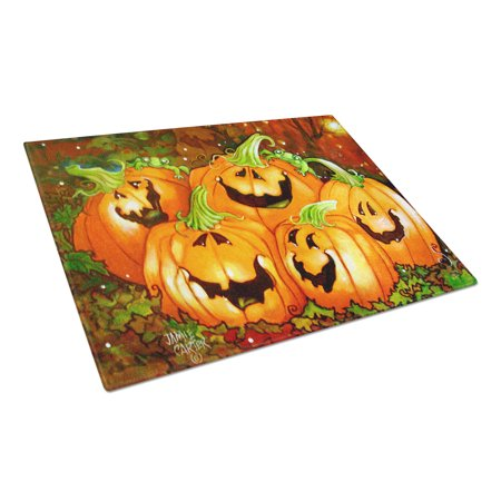 Caroline's Treasures Such a Glowing Personality Pumpkin Halloween Glass Cutting Board Large - Glowing Glass