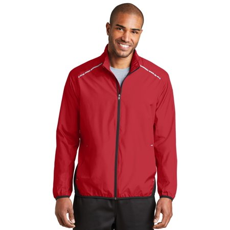Port Authority® Zephyr Reflective Hit Full-Zip Jacket. J345 Rich Red/ Deep Black - image 1 of 1