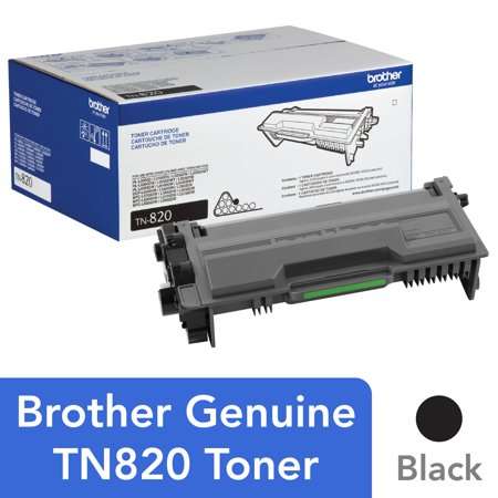 Brother Genuine Toner Cartridge, TN820, Page Yield Up To 3,000 Pages Silver Ink Cartridge