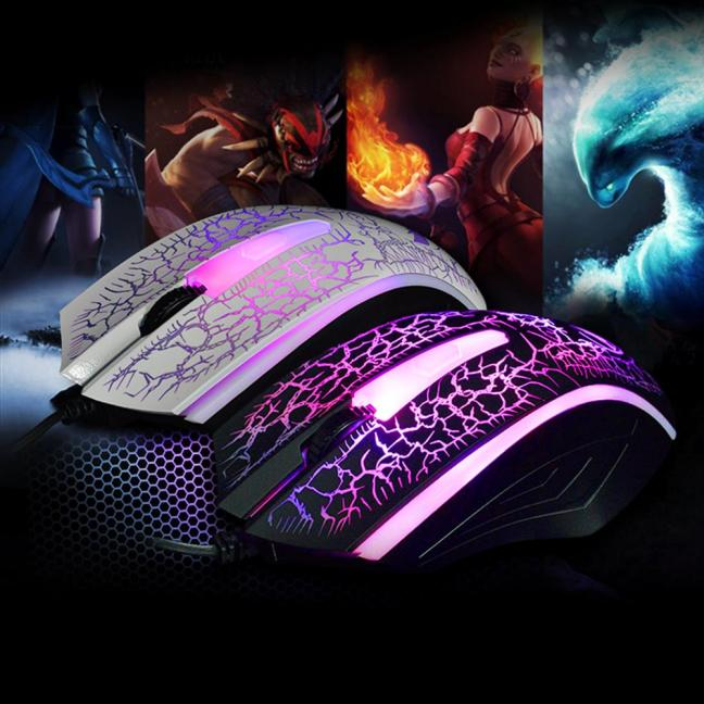 2400 DPI USB Wired Optical Gaming Game Mice Mouse For PC Laptop BK Popular
