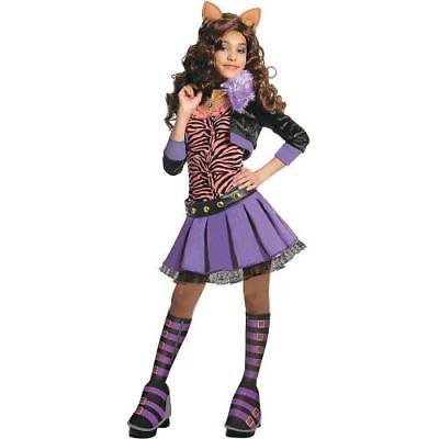 IN-13637566 Deluxe Monster High Clawdeen Wolf Girls Halloween Costume SMALL