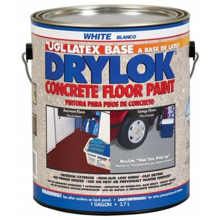 United Gilsonite 1 Gallon White Drylok Latex Base Concrete Floor Paint Low VOC - Pack of