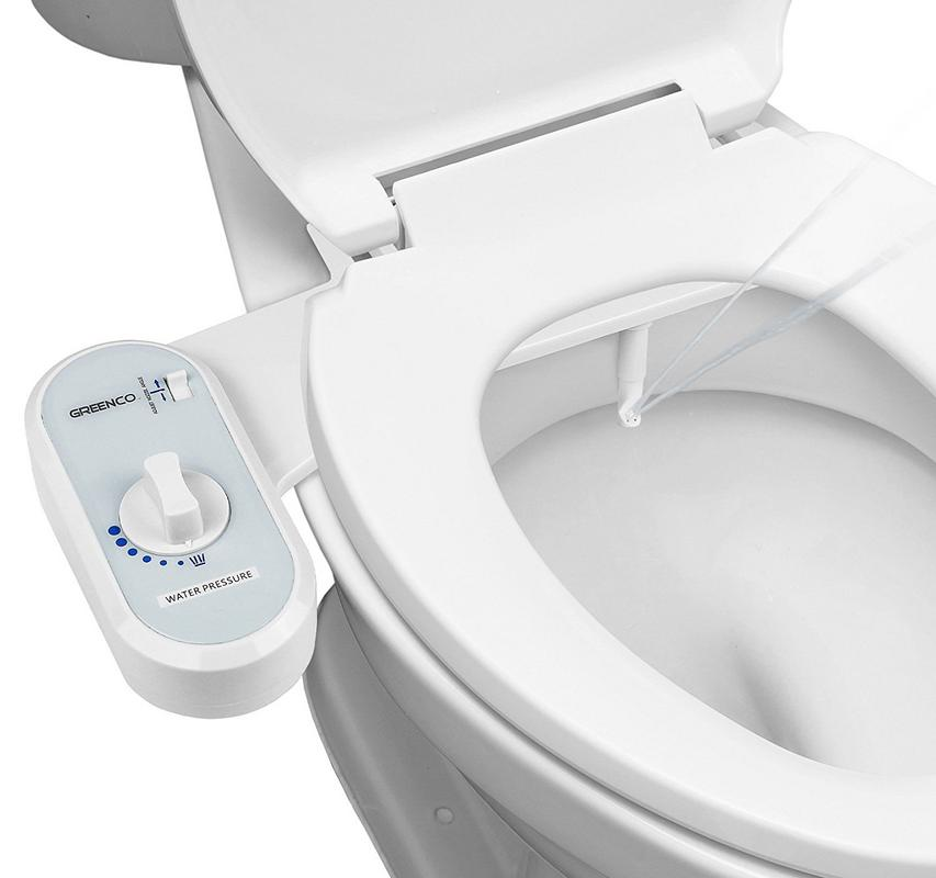 Greenco Bidet Fresh Water Spray Non Electric Mechanical Bidet Toilet Seat  Attachment