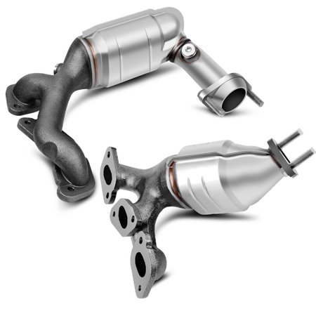 Catalytic Converters w/Exhaust Manifold for 01-07 Ford Escape, 01-06 Mazda  Tribute and 05-07 Mercury Mariner V6 3 0L Bank 1 and 2 (EPA Compliant)