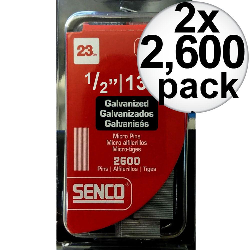"Senco A100509 2,600pk 1/2"" 23 Gauge Galvanized Micro Pin Nails 2-Pack"