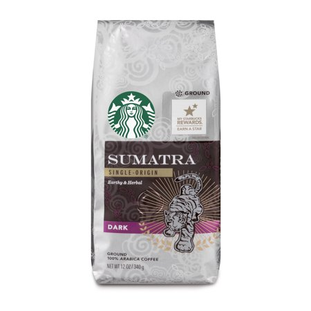 Starbucks Sumatra Dark Roast Ground Coffee, 12-Ounce